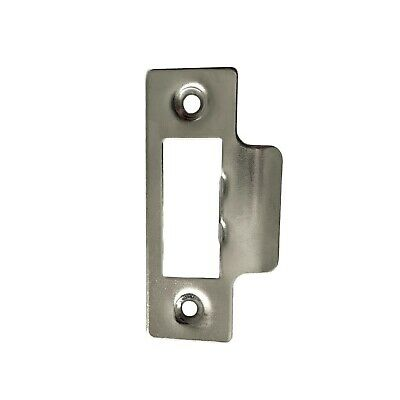 Single Strike Plate to use with Tubular Mortice Door Latch - polished chorme