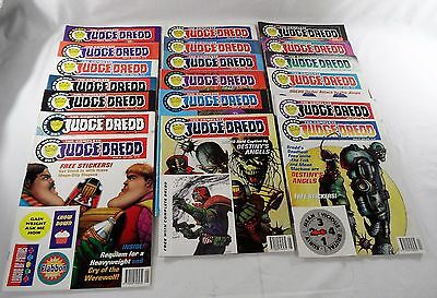 """Collection of 19 """"The complete Judge Dredd"""" Comics Issues 24-42 1994-95 VG"""