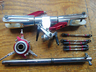 Trex 700L Dominator Flybarless Main Rotor Head Assembly C/w Turnbuckle Linkages