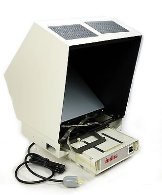 Indus 4601-01 Desktop Microfiche Reader Viewer 50/60 Hz 115 VAC .32Amp 38 Watts