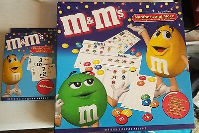 M&M Numbers and More Activity Sheet with Addition Flash Cards (NEW)