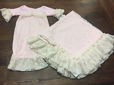 Cuddle Couture Gown And Blanket 6 Months Baby Girl Christening Easter