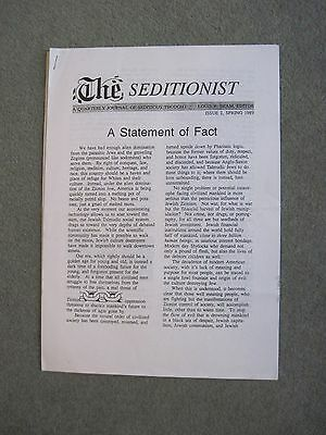 THE SEDITIONIST Issue 2 1989 Louis Beam BNP ISD NF Oi Skins Ultras