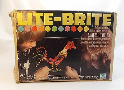 Vintage Hasbro LITE-BRITE with Bag of Pegs and 10 Blank Refill Sheets (1218-46)