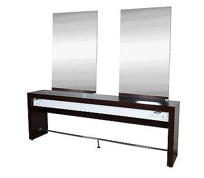 Hair Furniture Typhon, Twin Salon Styling Unit, Double Station, Double MirrorSet