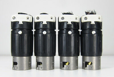 HUBBELL 50A 250V 3Ø 4 Wire TWIST LOCK PLUG CS-8365C connector LOT OF 4