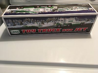 2010 Hess Toy Truck & Jet Lights sounds Launch ramp NEW in BOX Plus a bonus gift
