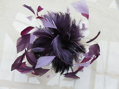 Beautiful classy large clip Fascinator Weddings Ladies Day Races  new w'out tag