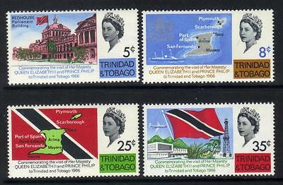 Trinidad + Tobago 1966 Royal Visit Mlh Set Of 4 Cat £6+