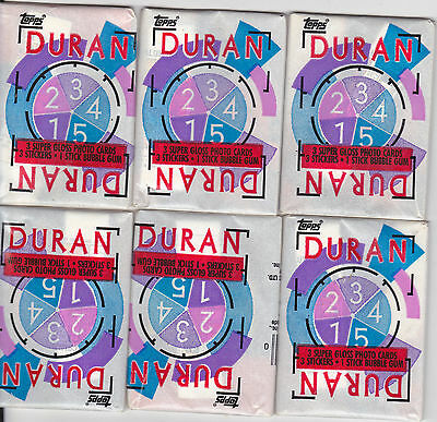 (6) Unopened Packs Of Duran-Duran Trading Cards All Are Mint!!