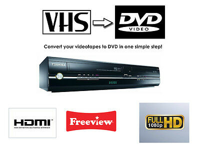 Toshiba DVR18DT DVD RECORDER & VCR VHS VIDEO RECORDER COMBI, FREEVIEW, HDMI