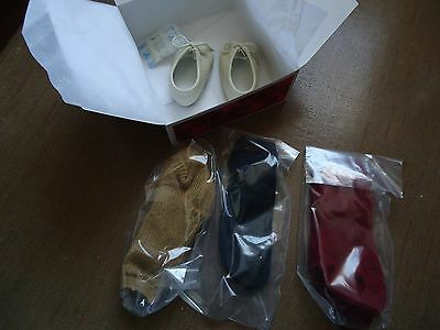 NIB American Girl Doll Retired Josefina's Shoes & Socks  - Black Red Tan Boots