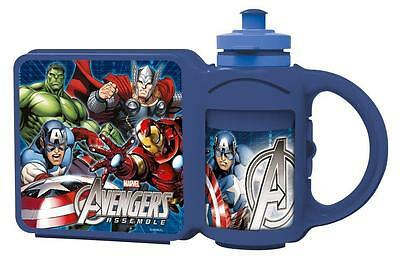 Avengers Lunch box and Sport Bottle Combo Set Childrens School Trip Nursery New