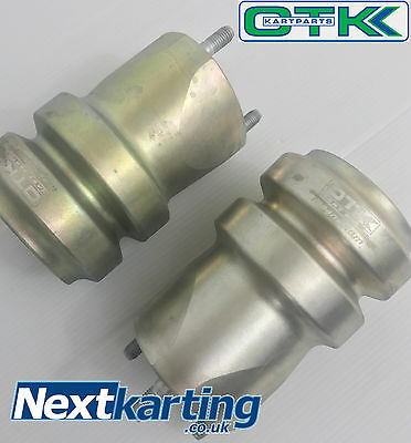 Set Of 2 Kart Tony Kart Rear Hub 148mm x 50mm - Magnesium - OTK Genuine X-Long