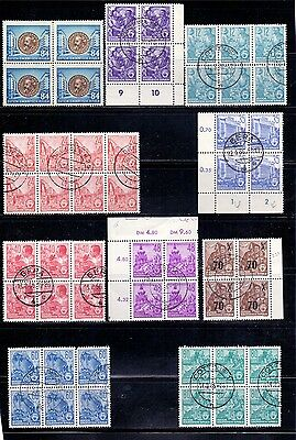 East Germany. Blocks of mint and used stamps issued 1953/4. Catalogue £67
