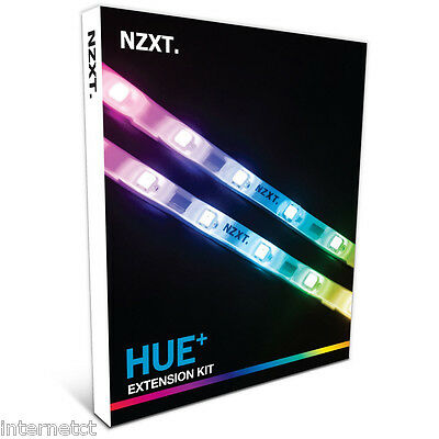 Nzxt Hue+ Cable Extension Kit, 2 Led Strips, Supports Up To 40 Led's Per Channel