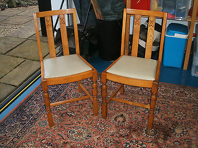 A Pair of Vintage Dining Kitchen Chairs with the BSI Kitemark