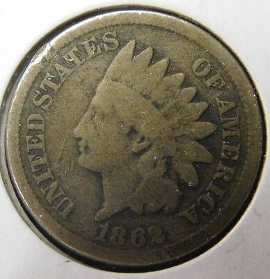 1862 Indian Head Cent Key Date Coin