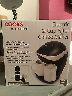 electric 2cup filter coffee maker bnib unwanted gift
