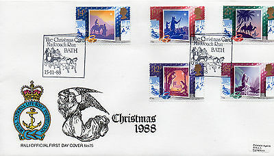 STAMPS RNLI  OFFICIAL FIRST  DAY COVER 1988 CHRISTMAS  No 75