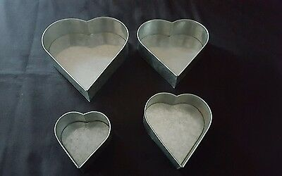 4 Tier Heart Multilayer Birthday Wedding Anniversary Cake Pans Tins Baking