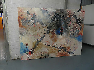 Beautiful Very Large Abstract Oil On Canvas Original Nigel Kingston Painting