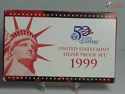 1999 SILVER US Mint 9 Piece Proof Set in Original Mint Box with COA