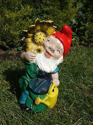 Gnome With A Can And  Sunflower Garden Ornament.latex Mould/moulds/mold