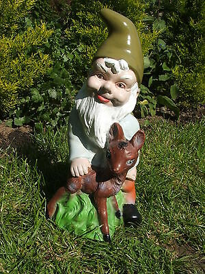 Gnome With A Baby Deer Garden Ornament.latex Mould/moulds/mold