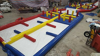 90' Inflatable Ball Track, Water Roller Zorb Balls Racing Bounce Track(NO BALLS)