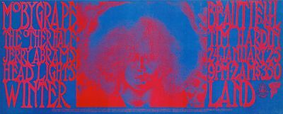 VERY PSYCHEDELIC Moby Grape 1969 ORIGINAL/MINT FD Winterland Poster
