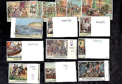 Liebig History Of Countries Full 10 Sets Of 6 Cards England France Germany Polan