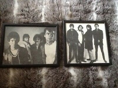 2  picture with frames of the stranglers