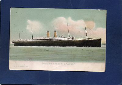 mm#2) RMS ADRIATIC *CREASED PPC POSTCARD-SHIPS