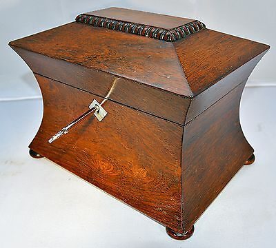 A 19th Century Rosewood Tea Caddy of Unusual Form