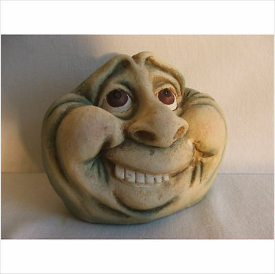 Happy Lady Rock Face Garden Ornament.latex Mould/moulds/mold