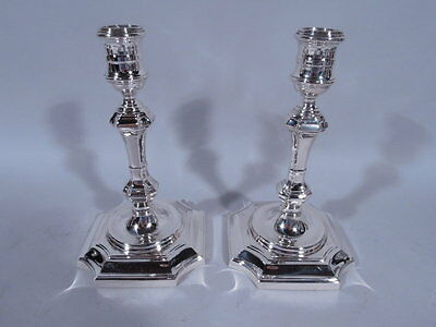 Tiffany Candlesticks - Queen Anne Georgian Style Pair - American Sterling Silver