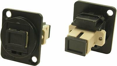 Cliff Electronic Components - CP30216MB - Feedthru, Sc Simplex Mm, Black Metal