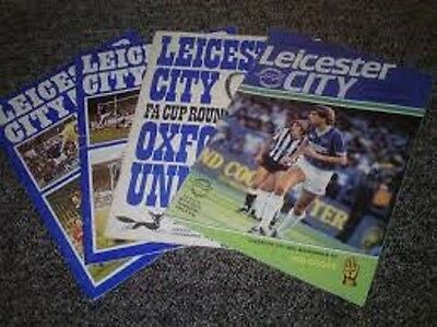 10 Different  Leicester City  Programmes