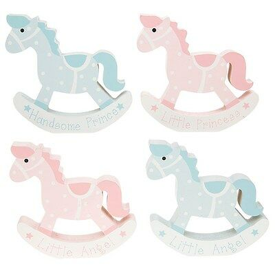 Baby boy girl wooden rocking horse new baby gift nursery decor prince princess