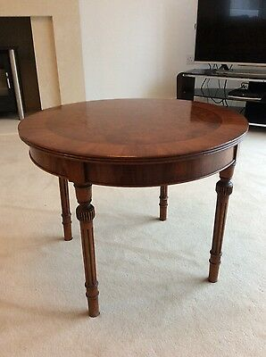 Reproduction regency style coffee/ lamp table.  £30.00 Excellent condition.