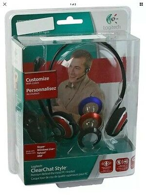 Logitech ClearChat Style Premium Behind the Head Headset Skype Noise Cancelling