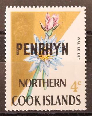 1973 Cook Islands Penrhyn SG 44Aa MNH Opted on Cook Islands SG232 Lily Error