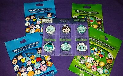 Disney Pins TSUM TSUM series 1 & 2 & Haunted Mansion Pack Lot of 26 Theme Park