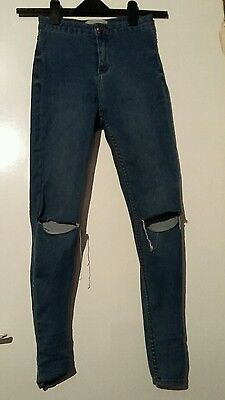New look size 6 petite high waisted ripped skinny jeans