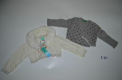 Monsoon and Benetton cardigans -new+worn (12 – 18 months)