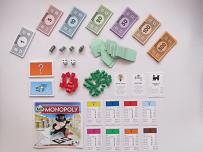 MY MONOPOLY (2014) SPARE GAME PIECES REPLACEMENT PARTS Board Game Hasbro Classic