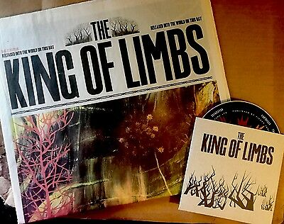 Radiohead King Of Limbs Early Release Newspaper And Cd