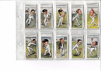 Players Cricketers caricatures by 'RIP' full set of 50 cards 1926