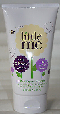 Little Me Organics Baby Hair/Body Wash 150ml Dill and Organic Lavender